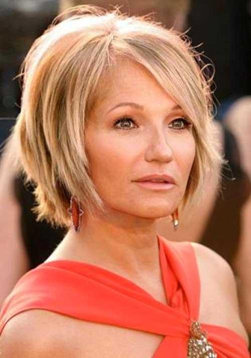 Layered Bob Hair Cut for Women Over 50