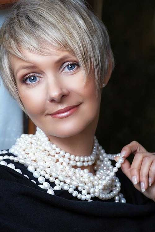 Best Layered Pixie Cut for Women Over 50