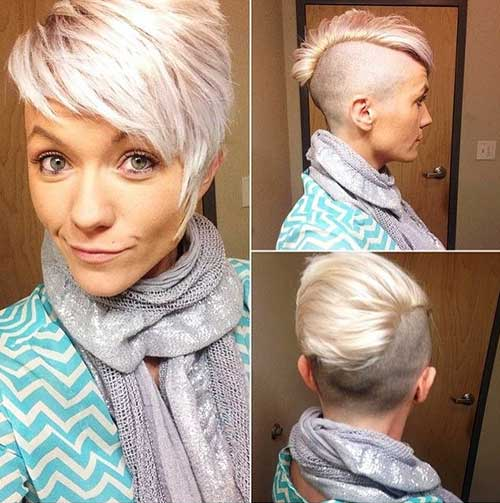 Blonde Layered Pixie Cuts for Girls