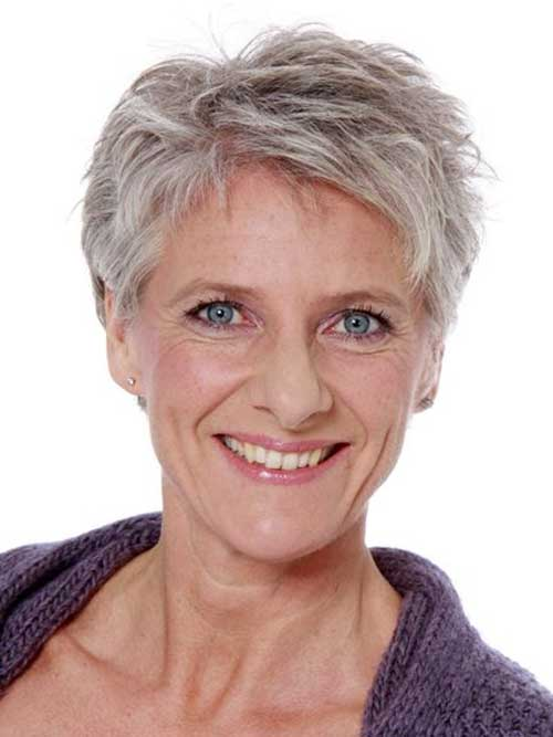 Best Short Haircuts For Gray Hair Photos