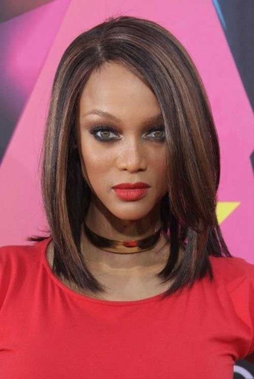 Cute Long Bob Haircuts for Black Women