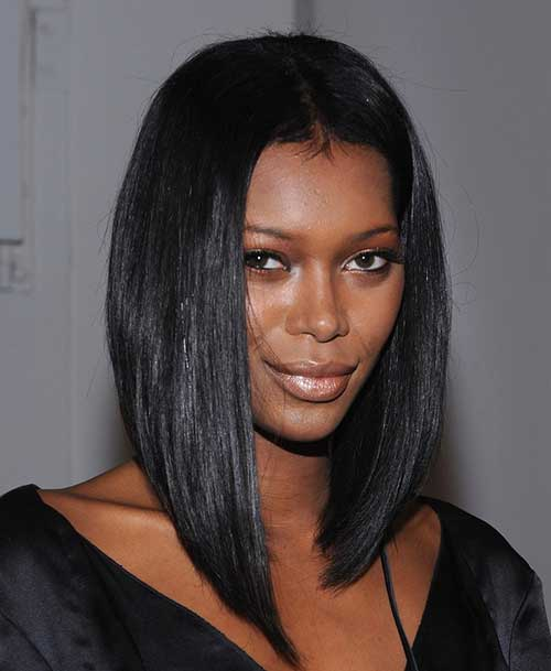 Chic Long Bob Hairstyles Black Women