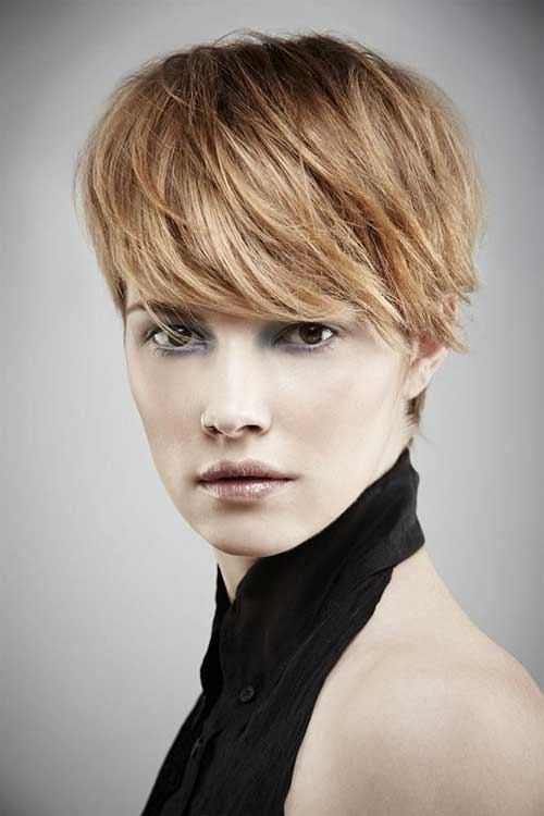 Long Pixie Hair Cuts for Round Faces