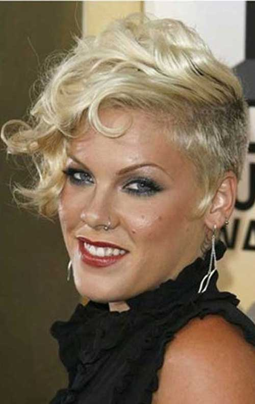 Punk Short Curly Pixie Hairstyles