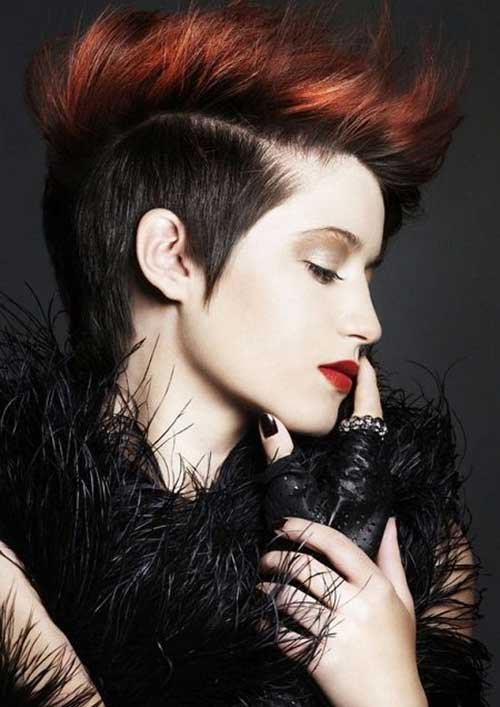 Punk Short Two Colored Spiky Hairstyles