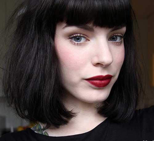 Short Dark Blunt Haircut