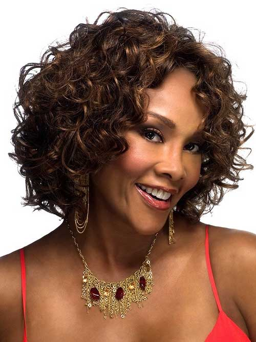 Curly Short Bob Hairstyles for Black Women 2014