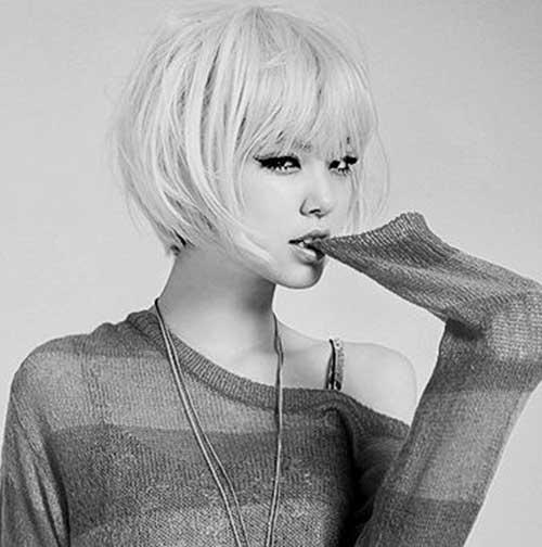 Short Blunt Haircuts for Asian Women