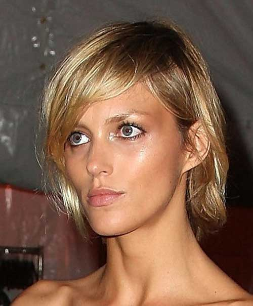 Short Honey Blonde Choppy Bob Hairstyles