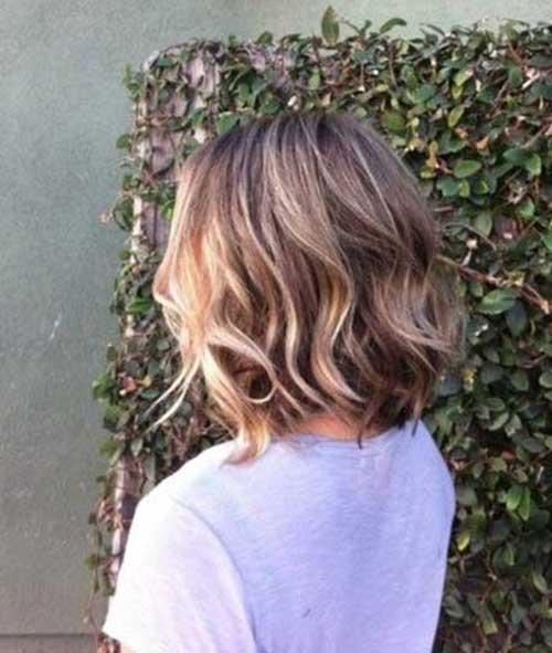 Short Medium Hair Cut Back View
