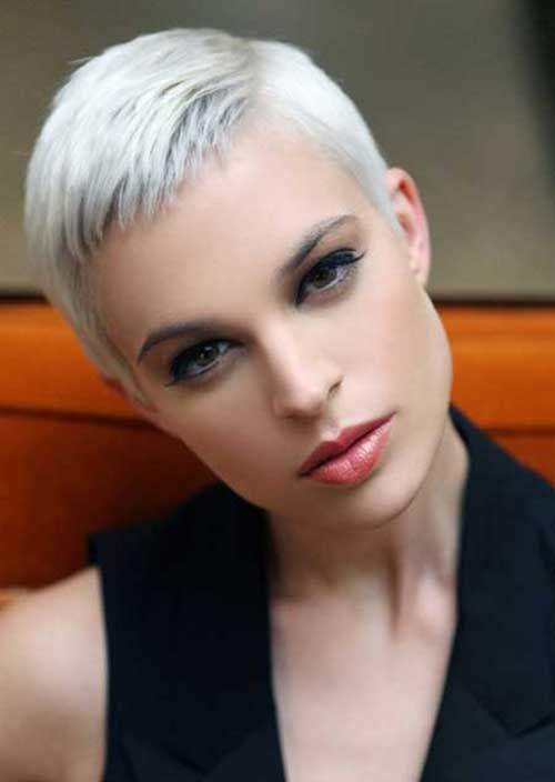 Short Fine Pixie Hairstyles for Grey Hair