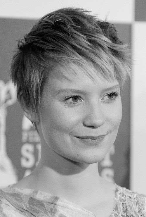 Short Spiky Pixie Haircut for Round Face