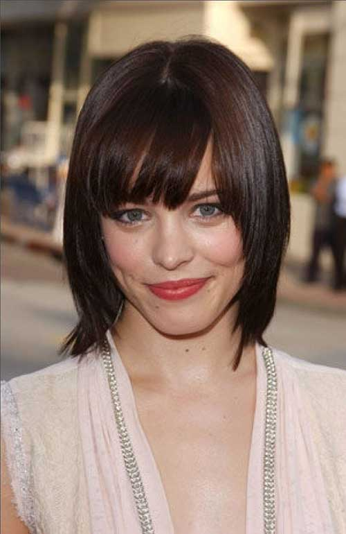 Short to Medium Haircuts with Bangs for Women