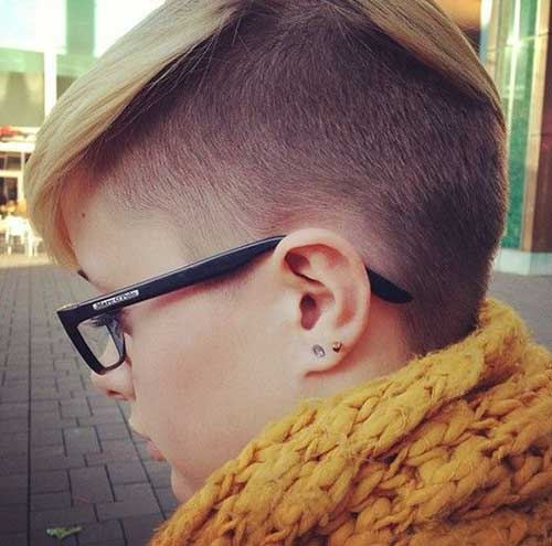 Side Shaved Pixie Cuts for Girls Side View