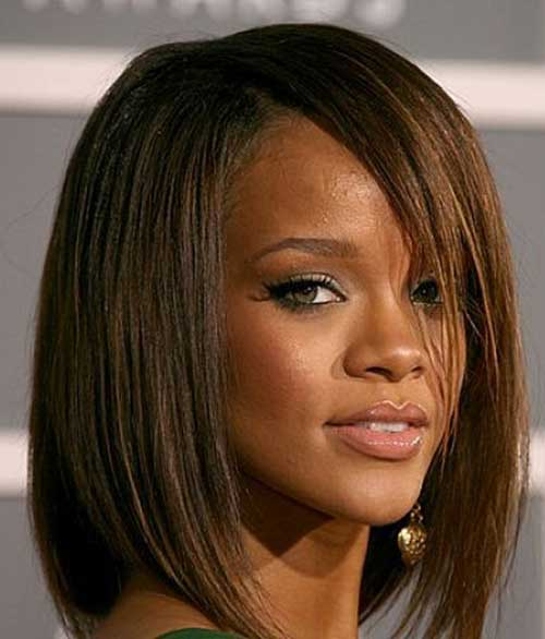 Side Swept Long Bob Style Cuts for Black Women