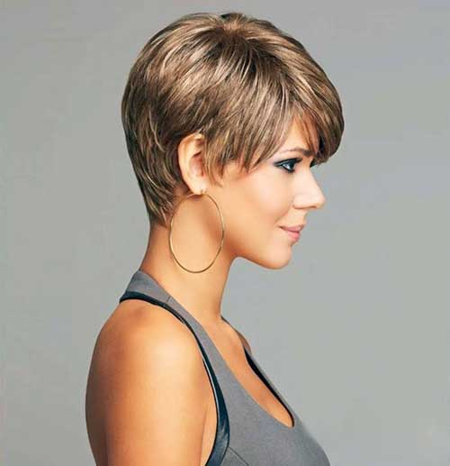 Side View of Short Pixie Hair Styles for Woman