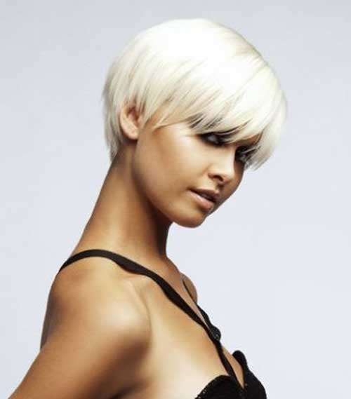 Straight Blonde Layered Pixie Haircuts for Thick Hair