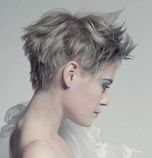 Trendy Pixie Cuts for Girls Side View