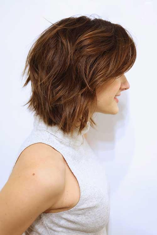 Woman Short Haircut Side View
