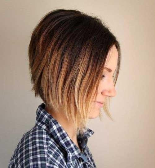 Blonde Ombre Short Hair-16