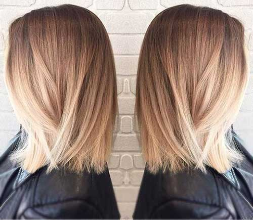 Blonde Ombre Short Hair-6