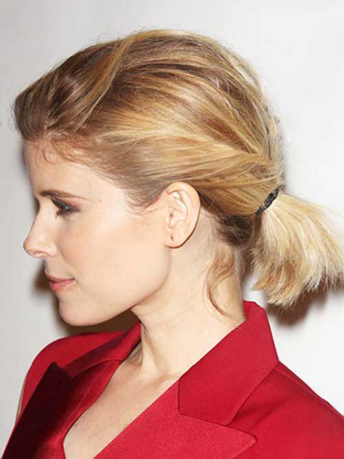 Ponytail Hairstyles for Short Hair-6