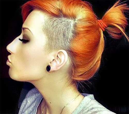 Ponytail Hairstyles for Short Hair-8