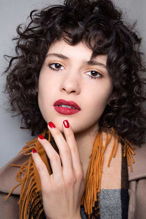 Short Hairstyles for Thick Curly Hair-10