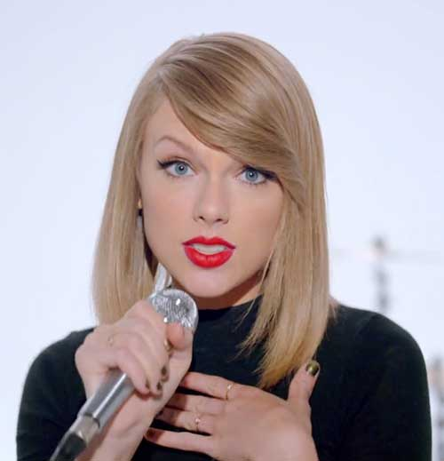 Taylor Swift 2014 Hairstyles for Short Hair