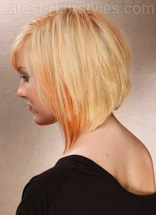 Angled Short Haircuts Back for Women 2014