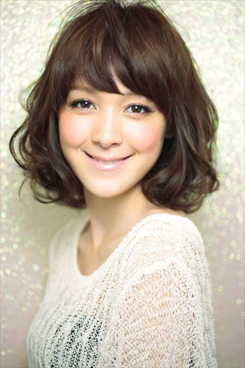 Asian Short Wavy Hairstyles 2015