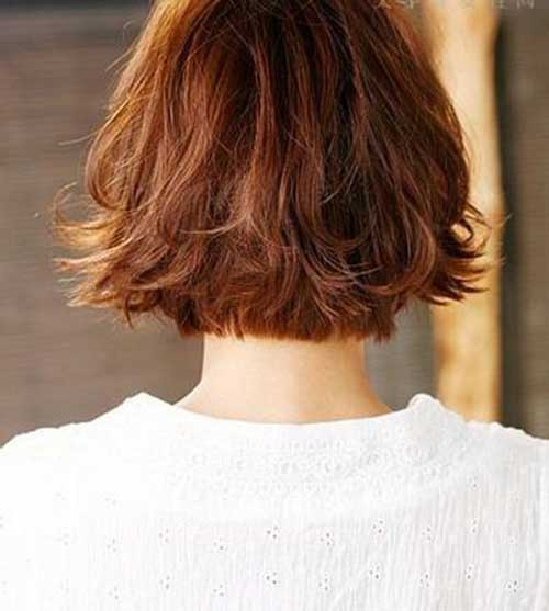 Back View of Messy Bob Haircuts