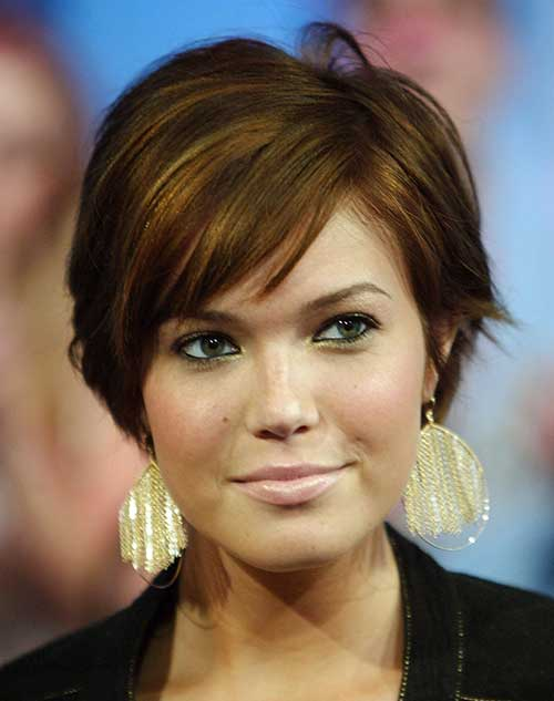 Best Short Hair Ideas for Round Faces 2015