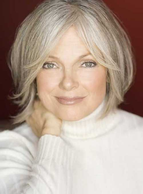 Best Short Grey Hairstyle for Older Women