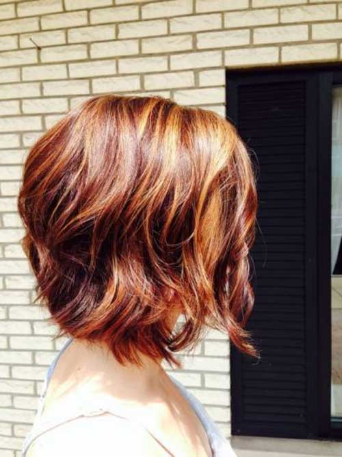 Best Short Wavy Layered Bob Side View Look