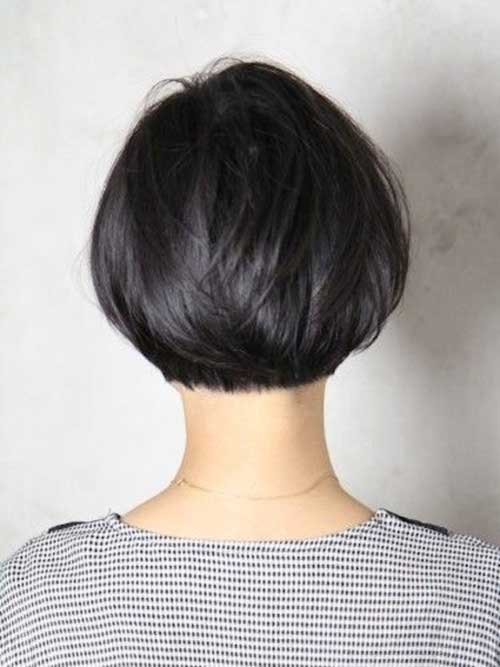 Best Textured Short Bob Hair Back View
