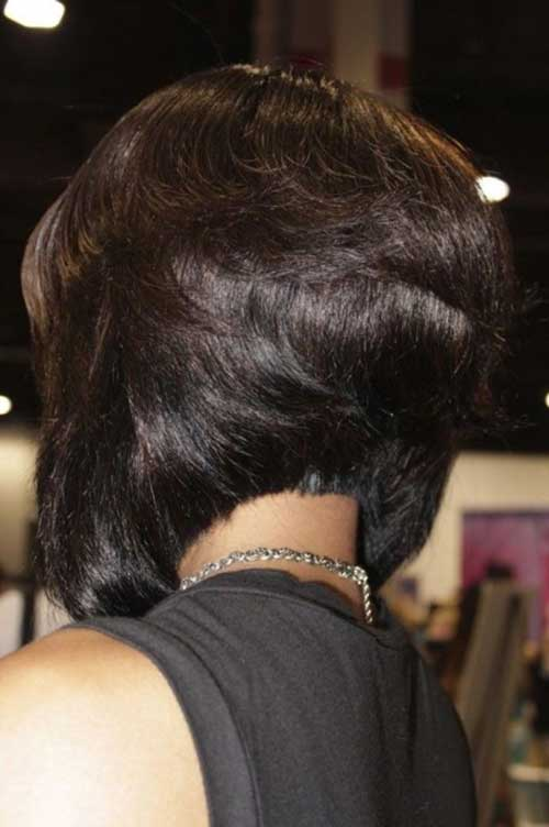 Black Girl Bob Hairstyles Back View