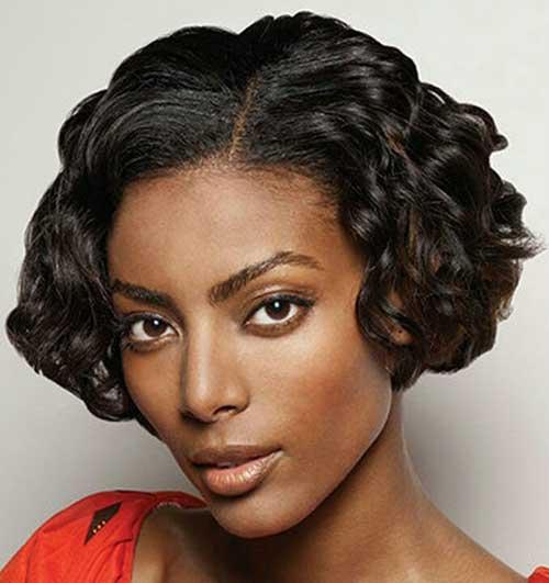 Black Girl Dark Curly Bob Hairstyles