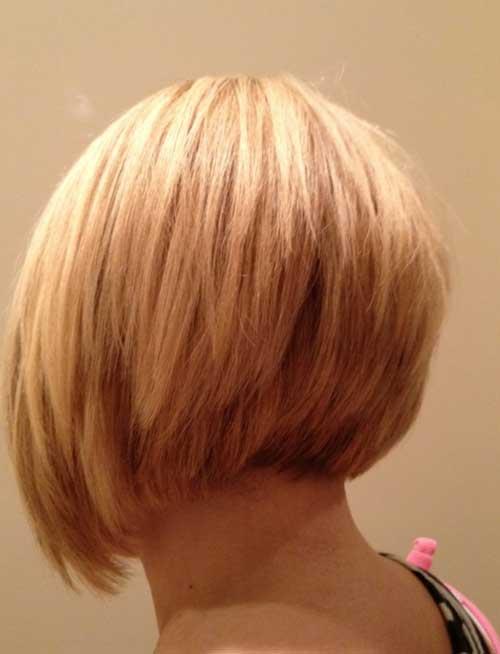 Blonde Bob Haircuts Back View