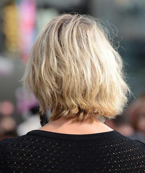 Blonde Messy Bob Hair Back View