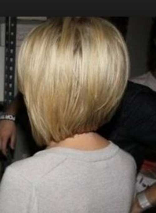 Line Bob Hairstyles Back View