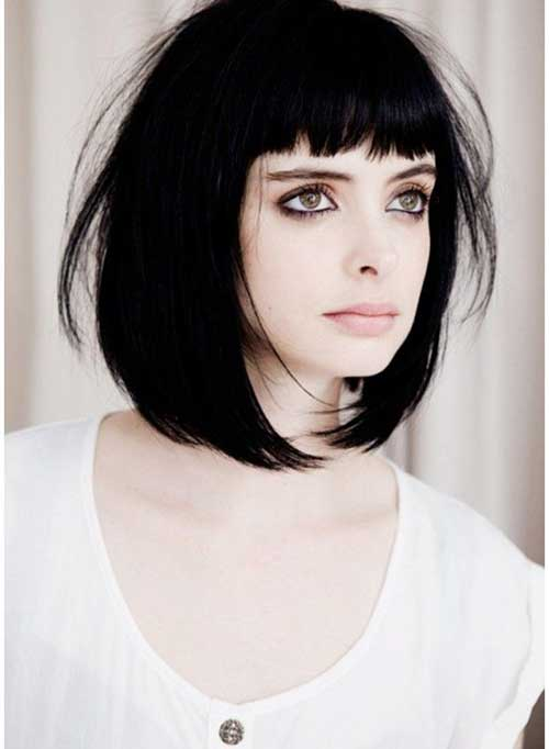 Bob Hairstyles Ideas with Bangs 2014