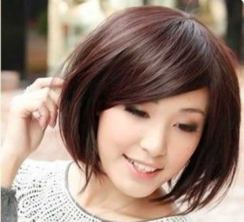 Casual Bob Hairstyles with Side Swept Bangs