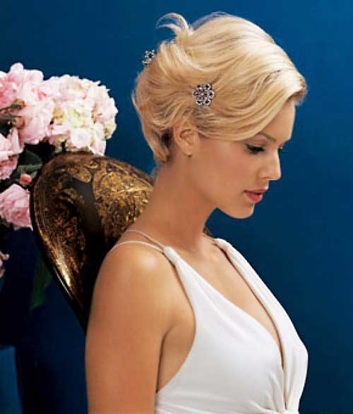 Bob Wedding Bridal Updo 2014 Hair