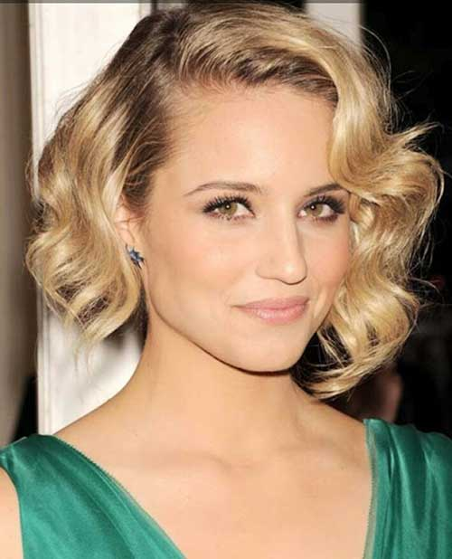 Curly Blonde Bob for Thick Hair Ideas