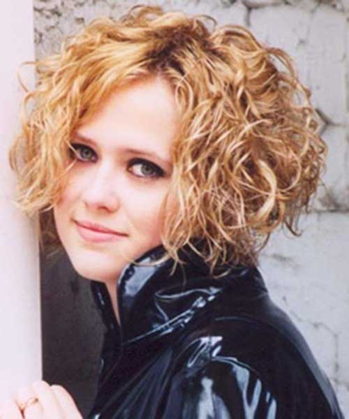 Curly Blonde Short Permed Hairstyles