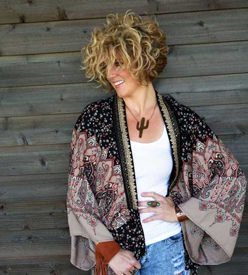 Curly Perm Hairstyles Short Blonde Hair