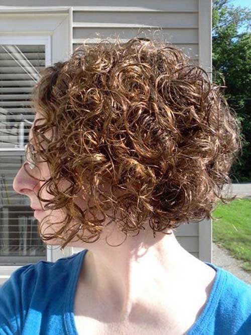 Curly Perm Short Hair for Women