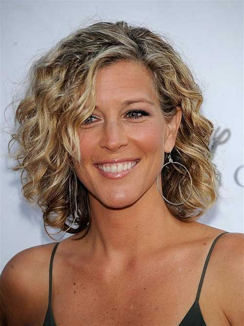 Curly Short Bob Haircuts for Older Ladies
