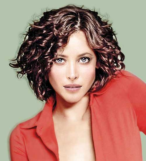 Curly Short Permed Brown Hairstyles